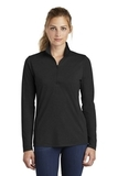 Women's Tri-Blend Wicking 1/4-Zip Pullover Black Triad Solid Thumbnail