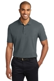 Tall Stain-resistant Polo Shirt Steel Grey Thumbnail