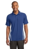 Micro-mesh Colorblock Polo True Royal with White Thumbnail