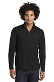 Tri-Blend Wicking 1/4-Zip Pullover Black Triad Solid Thumbnail