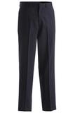 Men's Poly / Wool Pinstripe Flat Front Pant Navy Thumbnail