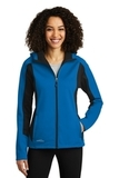 Women's Eddie Bauer Trail Soft Shell Jacket Expedition Blue with Black Thumbnail