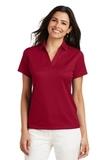 Women's Performance Fine Jacquard Polo Shirt Rich Red Thumbnail