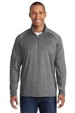 Tall Sport-wick Stretch 1/2-zip Pullover Charcoal Grey Heather Thumbnail