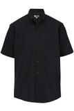 Men's Easy Care Poplin Shirt SS Black Thumbnail