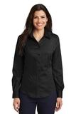 Women's Long Sleeve Non-iron Twill Shirt Black Thumbnail