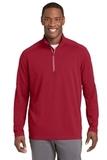 Sport-Wick Textured 1/4-Zip Pullover Deep Red Thumbnail