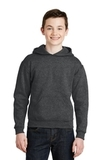 Youth Pullover Hooded Sweatshirt Black Heather Thumbnail