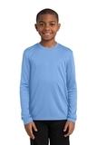 Youth Long Sleeve Competitor Tee Carolina Blue Thumbnail