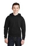Youth Pullover Hooded Sweatshirt Black Thumbnail