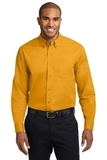 Long Sleeve Easy Care Shirt Athletic Gold with Light Stone Thumbnail