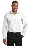 Slim Fit Carefree Poplin Shirt White Thumbnail