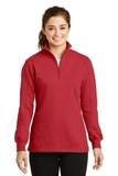 Women's 1/4-zip Sweatshirt True Red Thumbnail