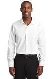 Red House Slim Fit Nailhead Non-Iron Shirt White Thumbnail