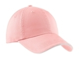 Sandwich Bill Cap With Striped Closure Light Pink with White Thumbnail