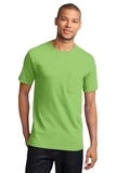 100 Cotton T-shirt With Pocket Lime Thumbnail