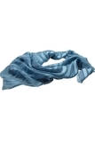 Women's Solid Scarf With Mixed Weave Slate Blue Thumbnail