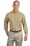 Tall Long Sleeve Twill Shirt Khaki Thumbnail