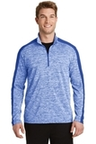 Electric Heather Colorblock 1/4-Zip Pullover True Royal Electric with True Royal Thumbnail