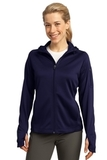Women's Sport-tek Tech Fleece Full-zip Hooded Jacket True Navy Thumbnail