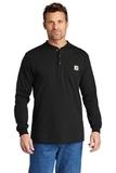 Carhartt Long Sleeve Henley T-Shirt Black Thumbnail