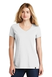 Women's New Era Heritage Blend VNeck Tee White Thumbnail