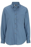 Women's Poplin Shirt LS Denim Blue Thumbnail