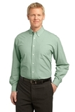 Plaid Pattern Easy Care Shirt Green Thumbnail
