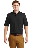 Spotshield Jersey Knit Polo With Pocket Black Thumbnail