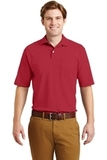 Spotshield Jersey Knit Polo With Pocket True Red Thumbnail