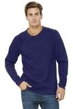 BELLACANVAS Unisex Sponge Fleece Raglan Sweatshirt Navy Triblend Thumbnail