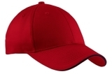 Sandwich Bill Cap Red with Navy Thumbnail