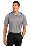 Heather Colorblock Contender Polo Vintage Heather with True Royal Thumbnail