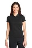 Women's Nike Golf Dri-FIT Solid Icon Pique Modern Fit Polo Black Thumbnail