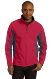 Corevalue Colorblock Soft Shell Jacket Rich Red with Battleship Grey Thumbnail