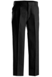 Men's 70/30 Poly / Wool Pleated Pant Black Thumbnail