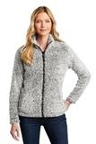 Ladies Cozy Fleece Jacket Grey Heather Thumbnail