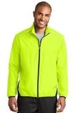 Zephyr Reflective Hit FullZip Jacket Safety Yellow with Deep Black Thumbnail