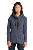 Women's New Era TriBlend Fleece FullZip Hoodie True Navy Heather Thumbnail
