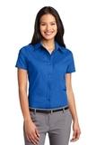 Women's Short Sleeve Easy Care Shirt Strong Blue Thumbnail