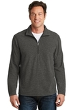 Heather Microfleece 1/2-Zip Pullover Black Charcoal Heather Thumbnail