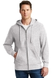 Super Heavyweight Full-zip Hooded Sweatshirt Athletic Heather Thumbnail