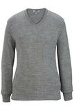 Women's Edwards V-neck Sweater-tuff-pil Plus Grey Heather Thumbnail