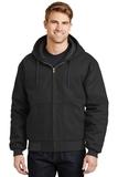 Duck Cloth Hooded Work Jacket Black Thumbnail
