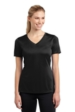 Women's V-neck Competitor Tee Black Thumbnail