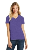Women's Made Perfect Blend V-Neck Tee Heathered Purple Thumbnail
