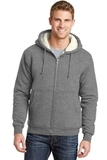 Heavyweight SherpaLined Hooded Fleece Jacket Grey Thumbnail