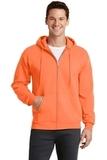 7.8-oz Full-zip Hooded Sweatshirt Neon Orange Thumbnail