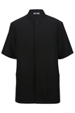100 Polyester Men's Solid Tunic Black Thumbnail