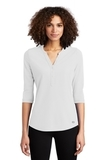 Women's OGIO Jewel Henley Bright White Thumbnail